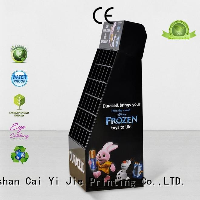 promotional cardboard product display stands printing for socket selling CAI YI JIE