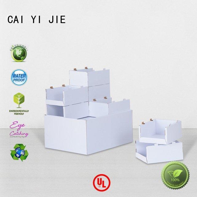 CAI YI JIE Brand cardboard retail corrugated cardboard pallet display