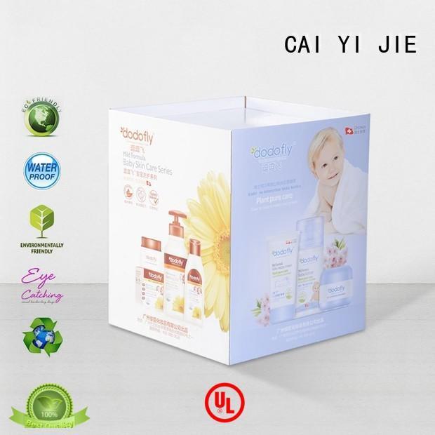 CAI YI JIE daily cardboard dump bins floor standing