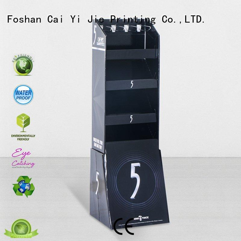 CAI YI JIE Brand cardboard step marketing counter hook display stand