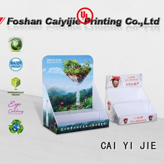 CAI YI JIE Brand stores grocery cardboard display boxes manufacture
