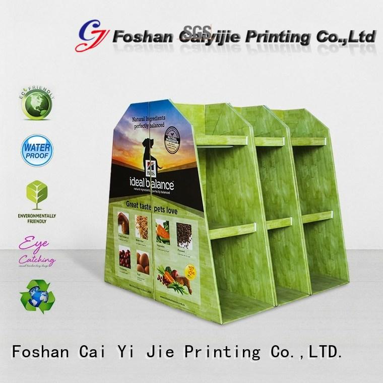 CAI YI JIE easy installation corrugated cardboard pallets pos for shop