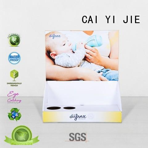 CAI YI JIE commodity cardboard countertop book displays stands boxes for stores