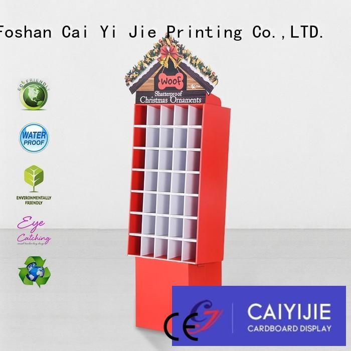 CAI YI JIE Brand retail corrugated stands custom cardboard greeting card display stand