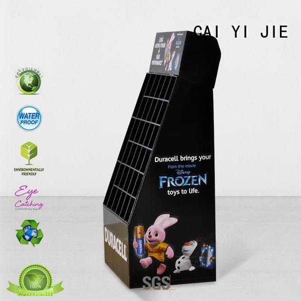 printed cardboard floor display stands product CAI YI JIE