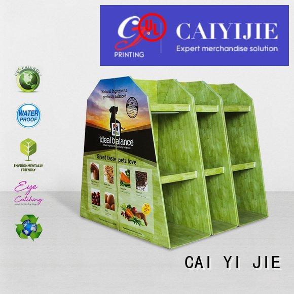 carton sales pallet display plastic CAI YI JIE
