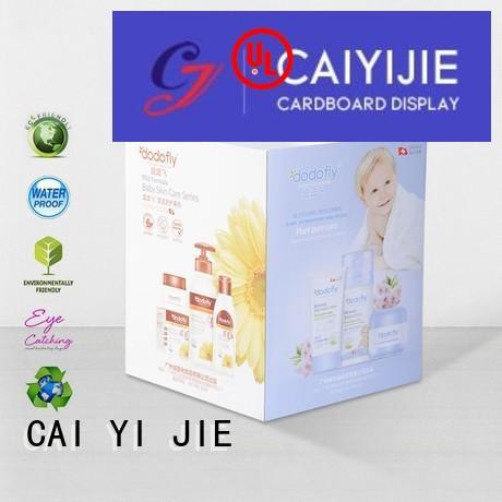 display merchandising cardboard dump bins for retail header CAI YI JIE company