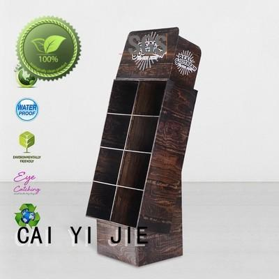 CAI YI JIE cardboard retail display sale for electronic lights for grids