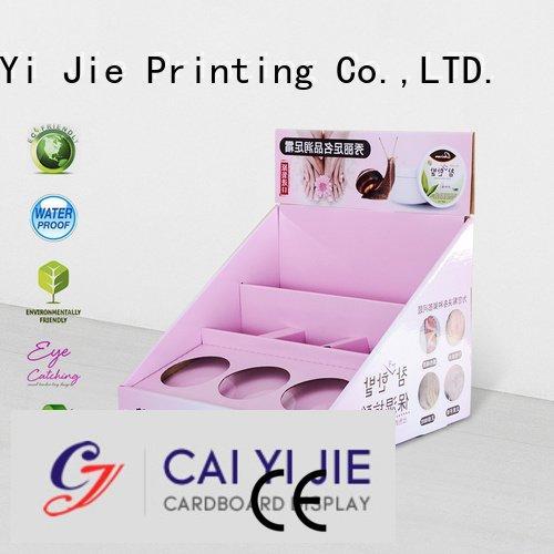 sale chain displays units CAI YI JIE cardboard display boxes