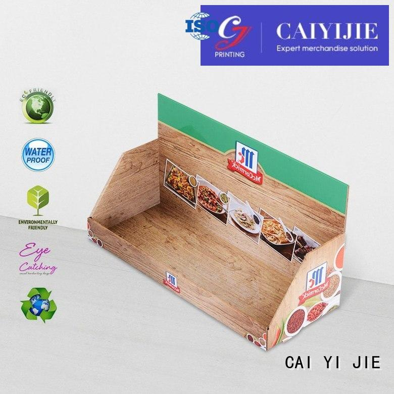 marketing products CAI YI JIE Brand custom cardboard counter displays