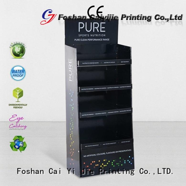 display floor display stands green for store CAI YI JIE
