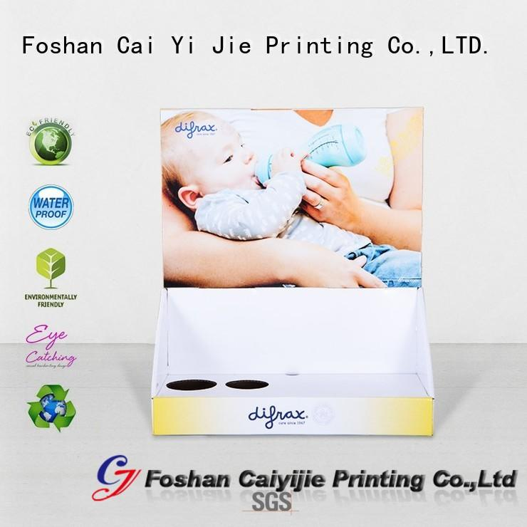 universal retail display boxes cardboard product for products CAI YI JIE
