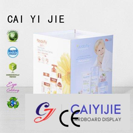 CAI YI JIE easy display dumpbin header standing