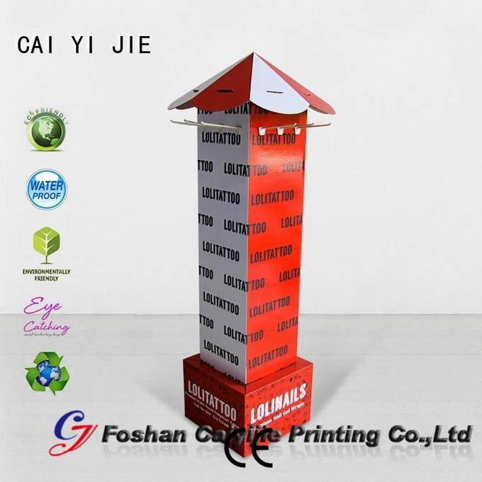 CAI YI JIE cardboard free standing display units wholesale for supermarket