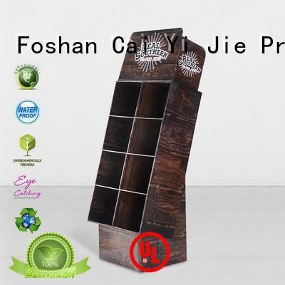 Custom retai cardboard stand corrugated CAI YI JIE