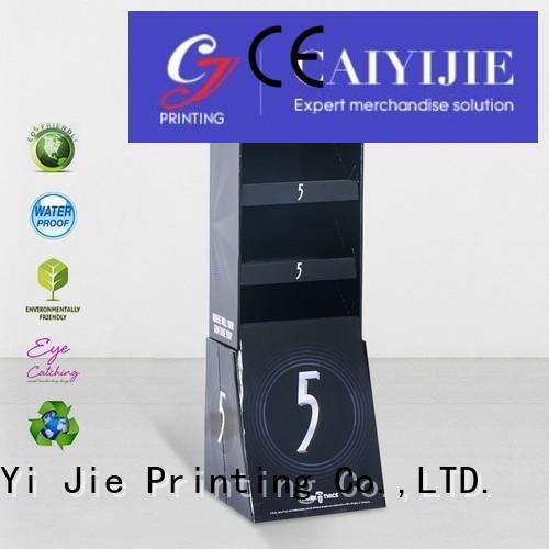 display supermarket printing stair CAI YI JIE Brand hook display stand supplier