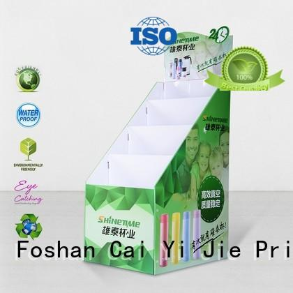 stand cardboard point of sale display stands displays for promotion CAI YI JIE