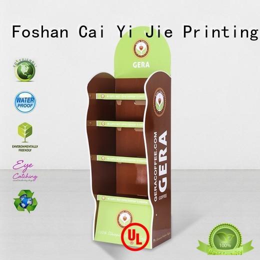 cardboard greeting card display stand step cardboard stand CAI YI JIE Brand