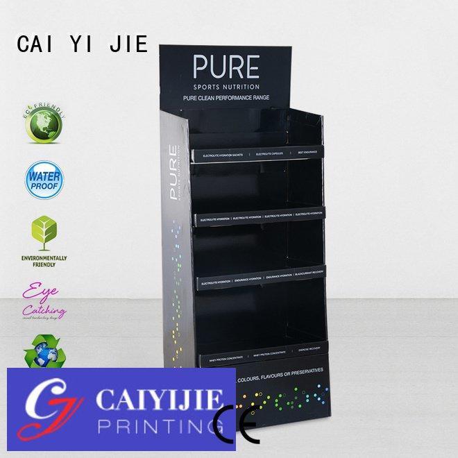 retai stainless cardboard stand uv CAI YI JIE