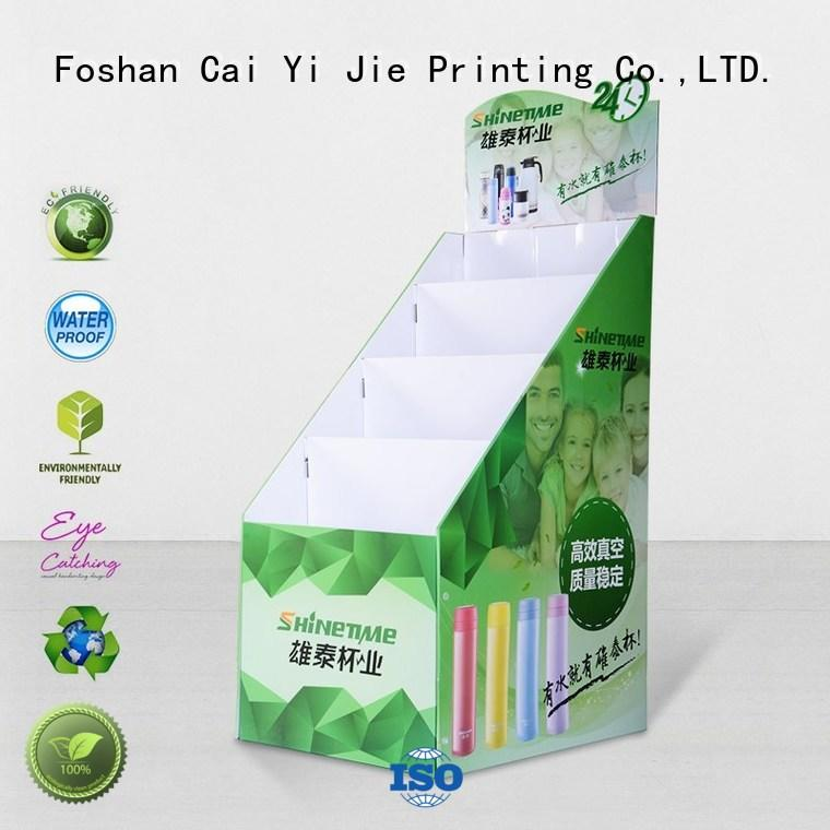 stainless step retai cardboard stand stands CAI YI JIE