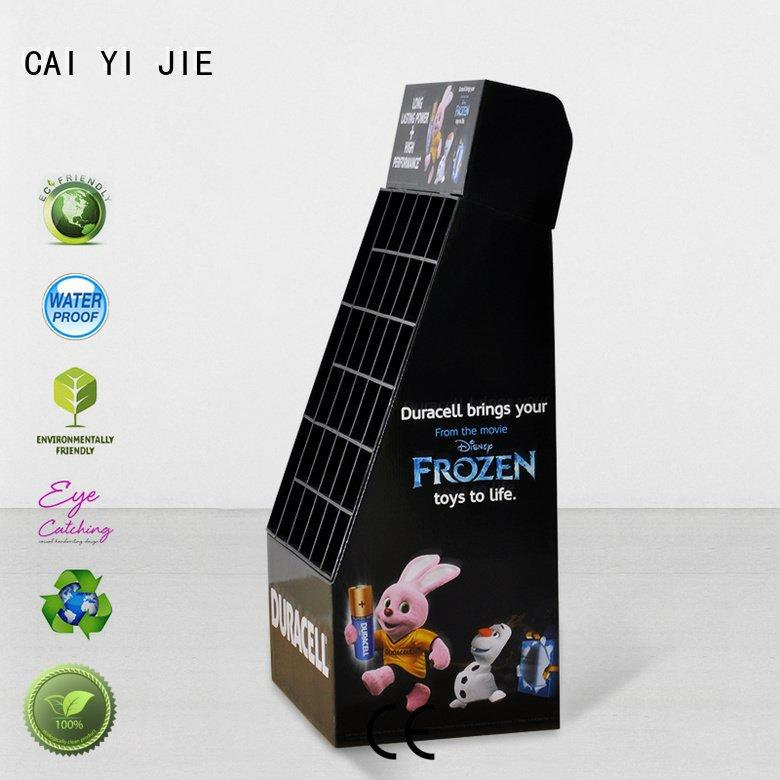 chain step cardboard stand products CAI YI JIE