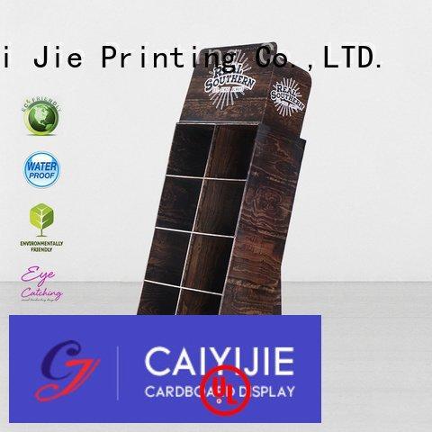 CAI YI JIE cardboard greeting card display stand color stiand uv