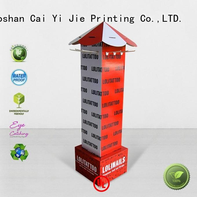 full color cardboard hook display inquire now for phone accessories CAI YI JIE