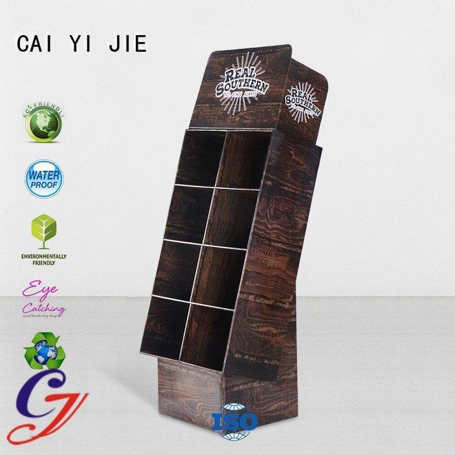 chain cardboard stand CAI YI JIE cardboard greeting card display stand