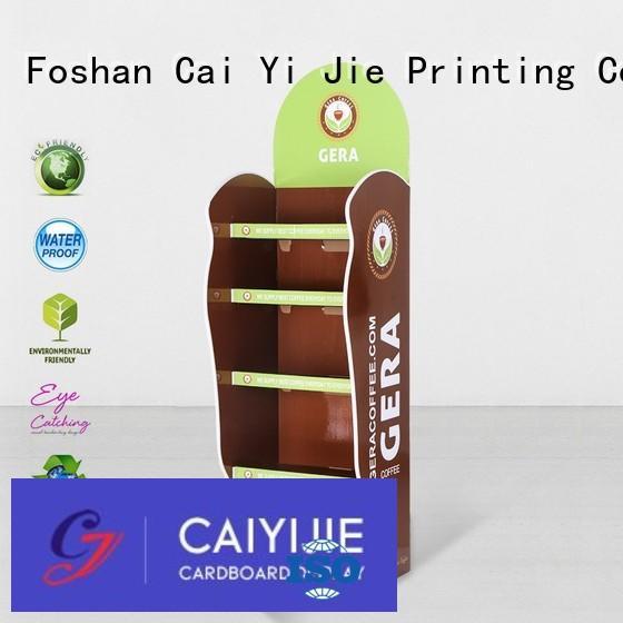 cardboard greeting card display stand stiand CAI YI JIE Brand cardboard stand