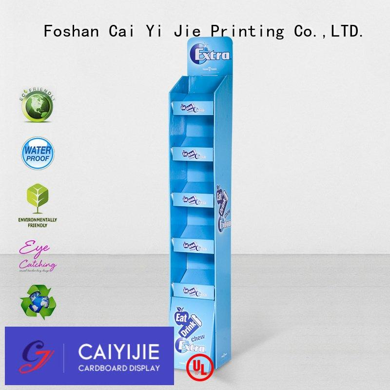 Custom cardboard stand display step large CAI YI JIE