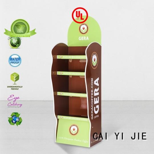 CAI YI JIE cardboard counter display stands sale for store
