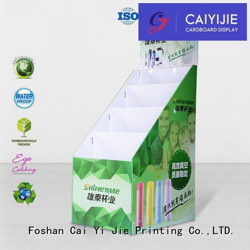 floor stand cardboard greeting card display stand corrugated CAI YI JIE company