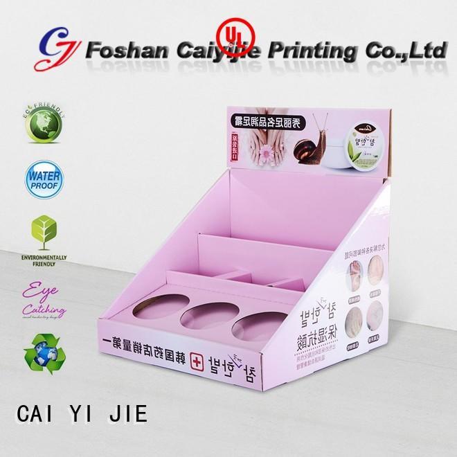 promotional supermarkets custom cardboard counter displays display retail CAI YI JIE Brand