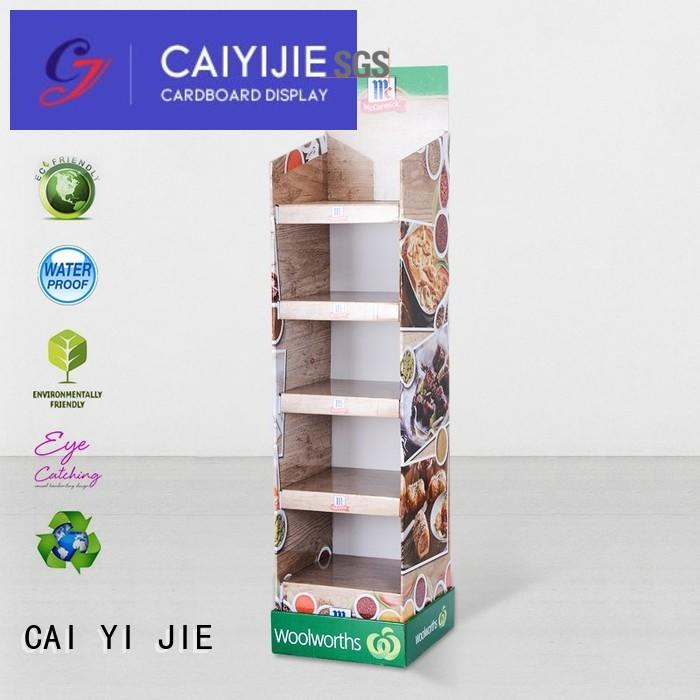 cardboard cardboard floor stands floor for led light CAI YI JIE