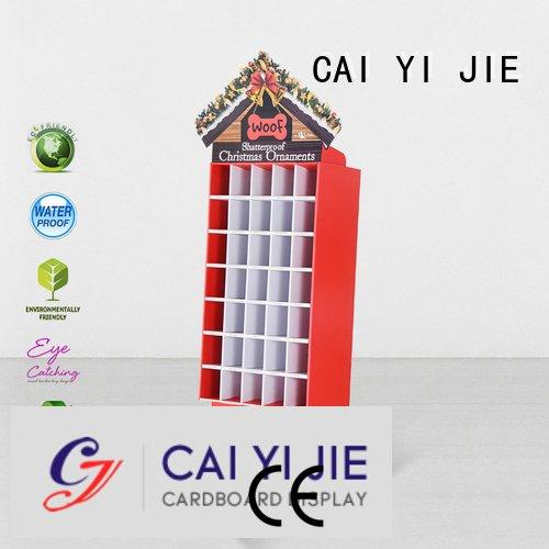Hot cardboard greeting card display stand stores cardboard stand point CAI YI JIE