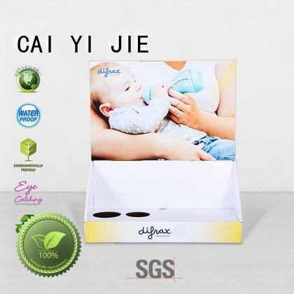 custom cardboard counter displays retail boxes Bulk Buy units CAI YI JIE