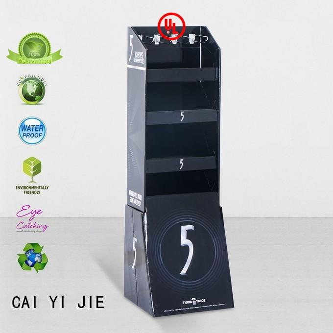 mobile cardboard book display racks manufacturer for perfume CAI YI JIE