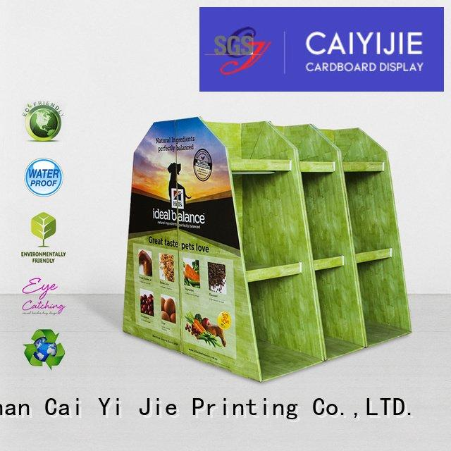 CAI YI JIE cardboard pallet display corrugated carton racks sales