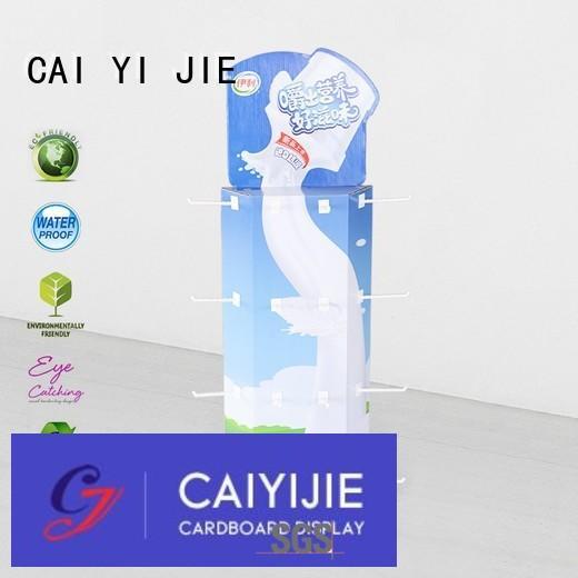 sidekick display rack wing corrugated display CAI YI JIE Brand power wing display