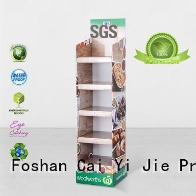 large cardboard counter display stands shelve for store