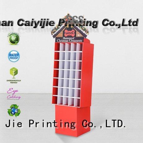 CAI YI JIE color printed super cardboard greeting card display stand large