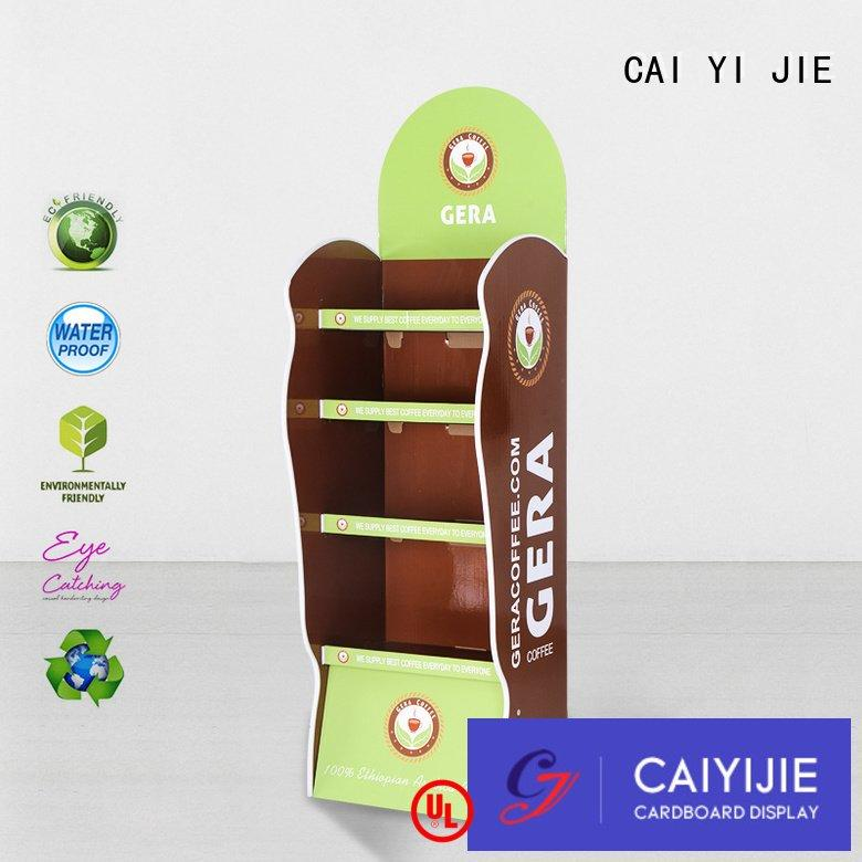 cardboard greeting card display stand corrugated pop promotional CAI YI JIE