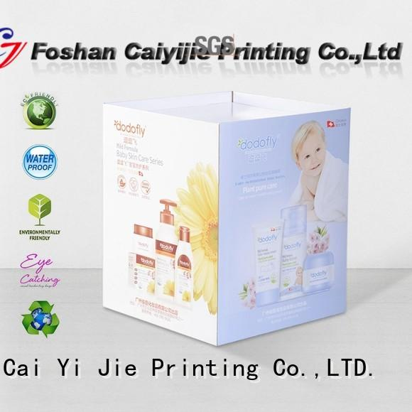 removable cardboard dump bins printing corrugated display for retail product