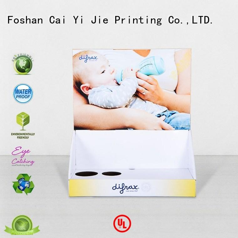 CAI YI JIE commodity cardboard counter display boxes factory price for stores