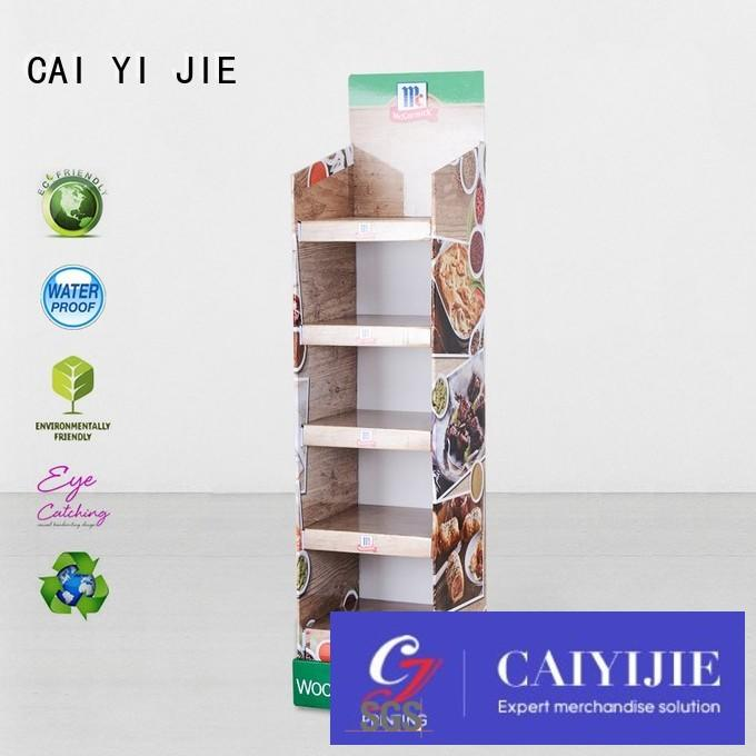 CAI YI JIE promotional cardboard retail display stands retai forbottle