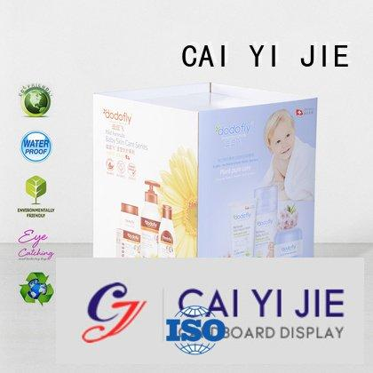 CAI YI JIE Brand cheese merchandising cardboard dump bins for retail corrugated display