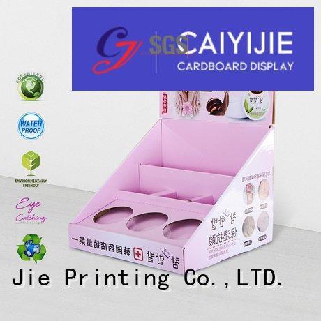 custom cardboard counter displays stores CAI YI JIE Brand cardboard display boxes