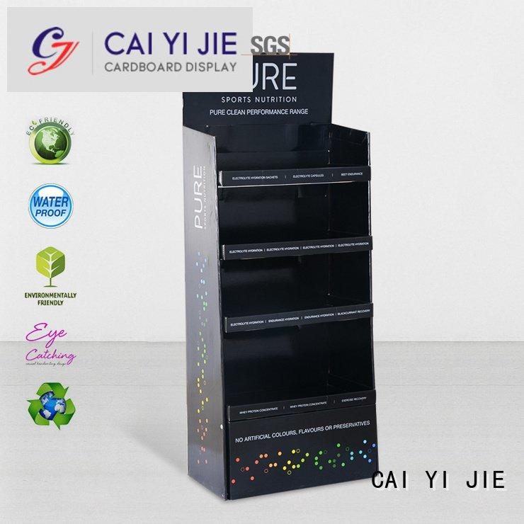 display floor space stainless CAI YI JIE cardboard stand