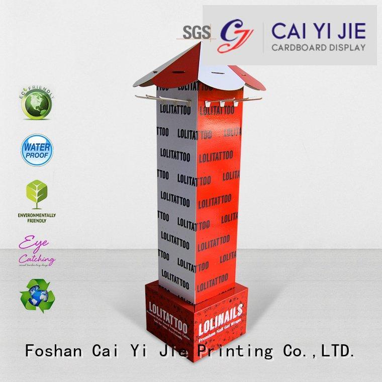 cardboard display stair hook CAI YI JIE counter hook display stand