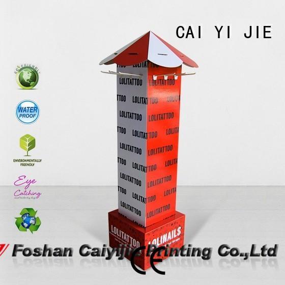CAI YI JIE cardboard business card display holders cardboard display for phone accessories
